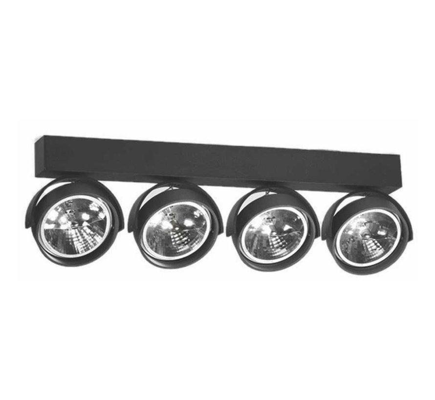 Plafondlamp Dutchess 4L - Zwart - Dim to Warm