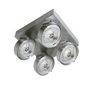 Artdelight Plafondlamp Dutchess 4L SQ - Aluminium - Dim to Warm