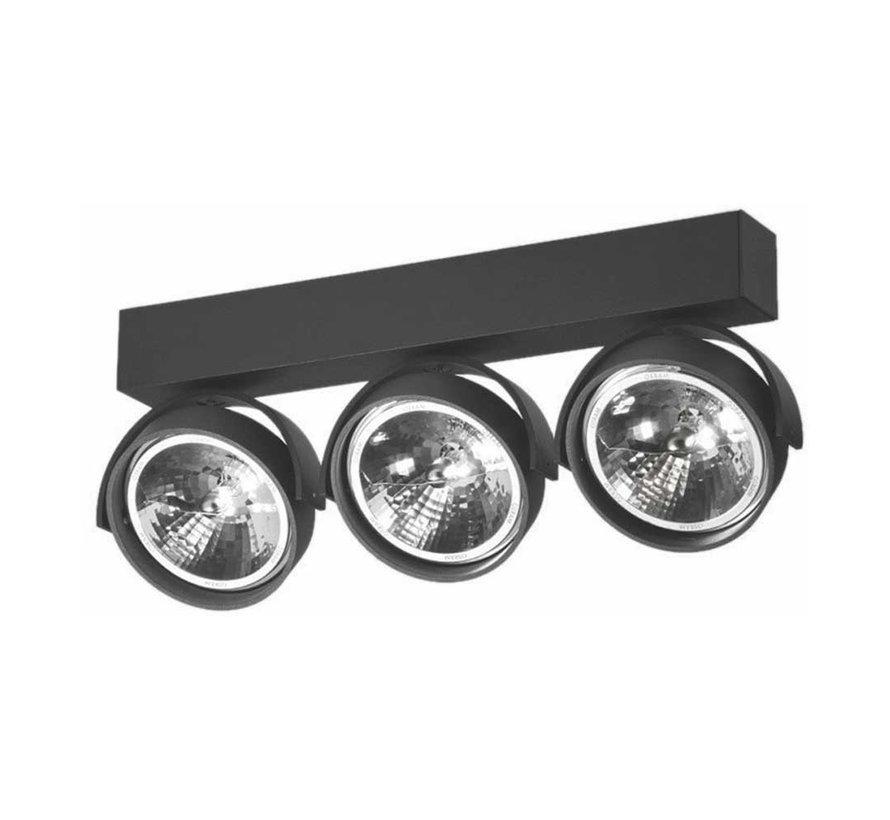 Plafondlamp Dutchess 3L - Zwart - Dim to Warm