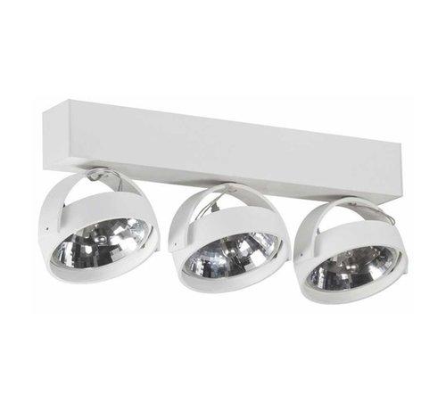 Artdelight Plafondlamp Dutchess 3L - Wit - Dim to Warm