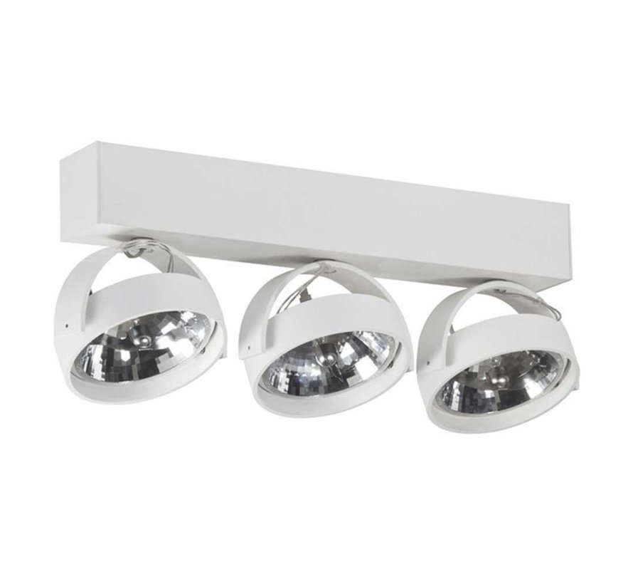 Plafondlamp Dutchess 3L - Wit - Dim to Warm