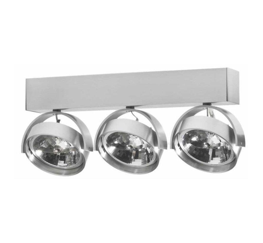 Plafondlamp Dutchess 3L - Aluminium - Dim to Warm