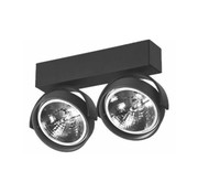 Artdelight Plafondlamp Dutchess 2L - Zwart - Dim to Warm