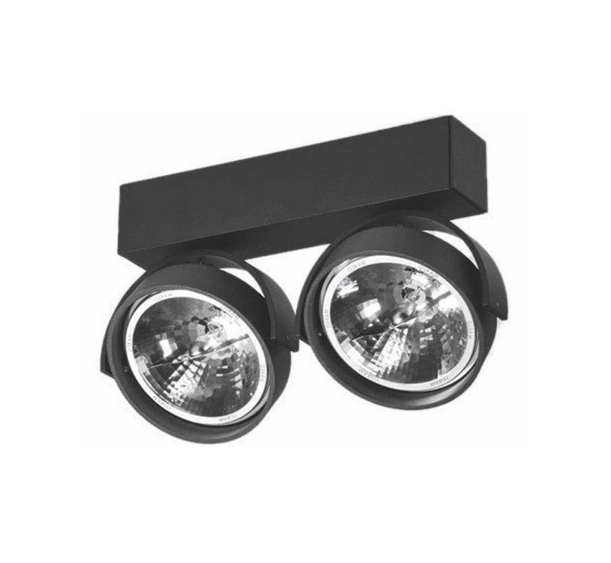 Plafondlamp Dutchess 2L - Zwart - Dim to Warm
