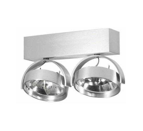 Artdelight Plafondlamp Dutchess 2L - Aluminium - Dim to Warm