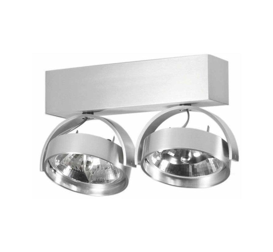 Plafondlamp Dutchess 2L - Aluminium - Dim to Warm