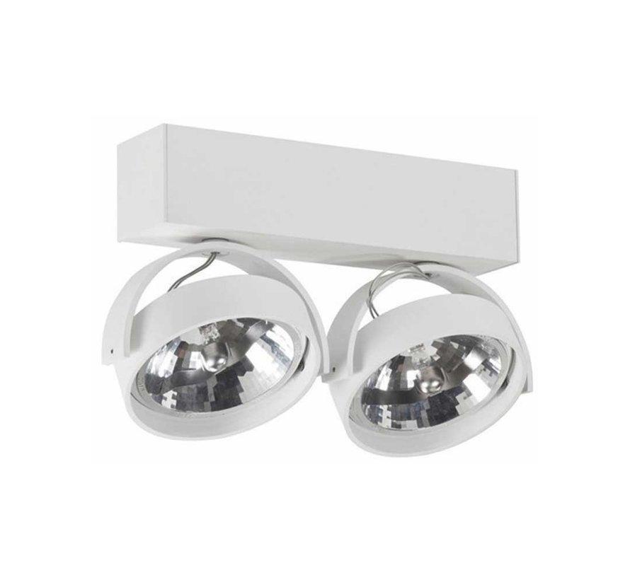 Plafondlamp Dutchess 2L - Wit - Dim to Warm