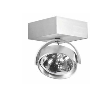 Artdelight Plafondlamp Dutchess 1L SQ - Aluminium - Dim to Warm