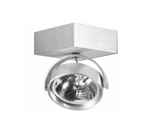Artdelight Plafondlamp Dutchess 1L SQ - Aluminium - Dim to Warm