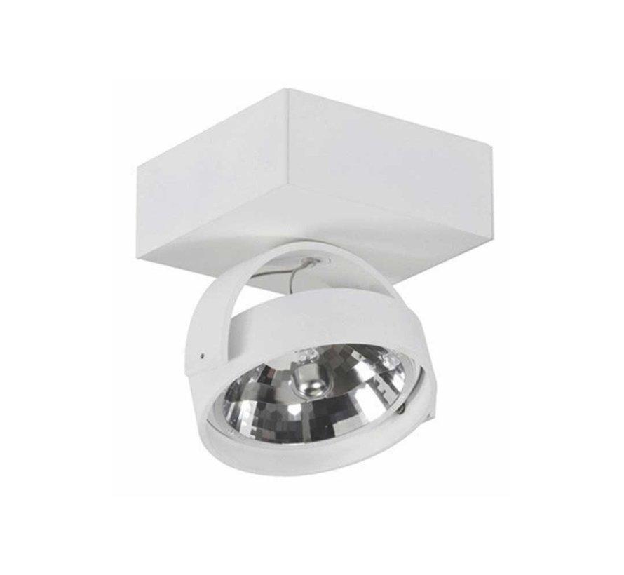 Plafondlamp Dutchess 1L SQ - Wit - Dim to Warm