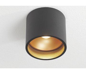 Artdelight Plafondlamp Ormond - Zwart/Goud