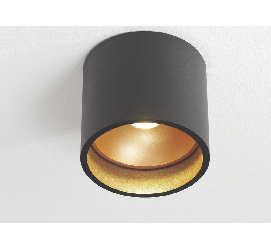 Plafondlamp Ormond - Zwart/Goud