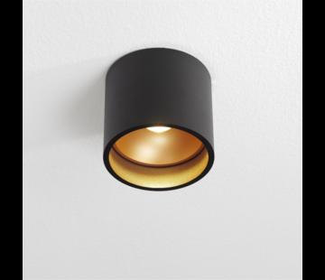 Artdelight Plafondlamp Orleans - Zwart/Goud