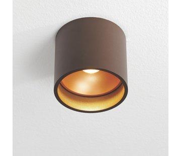 Artdelight Plafondlamp Orleans - Bruin/Goud