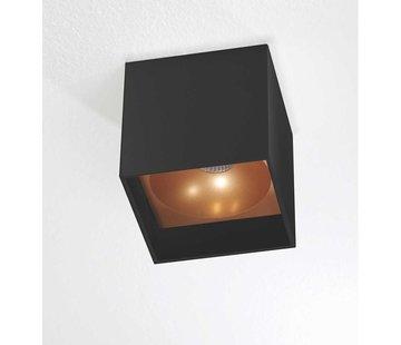Artdelight Plafondlamp Brock - Zwart/Goud