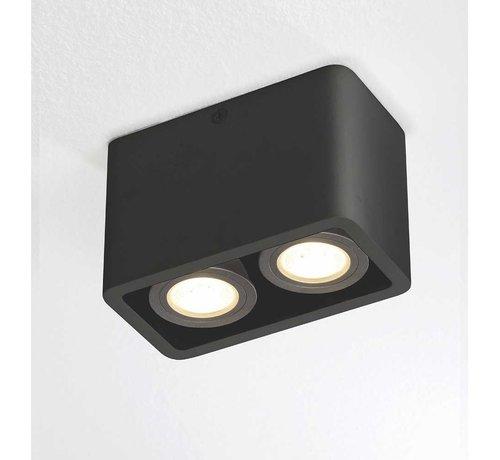 Artdelight Plafondlamp Bronx 2L - Zwart