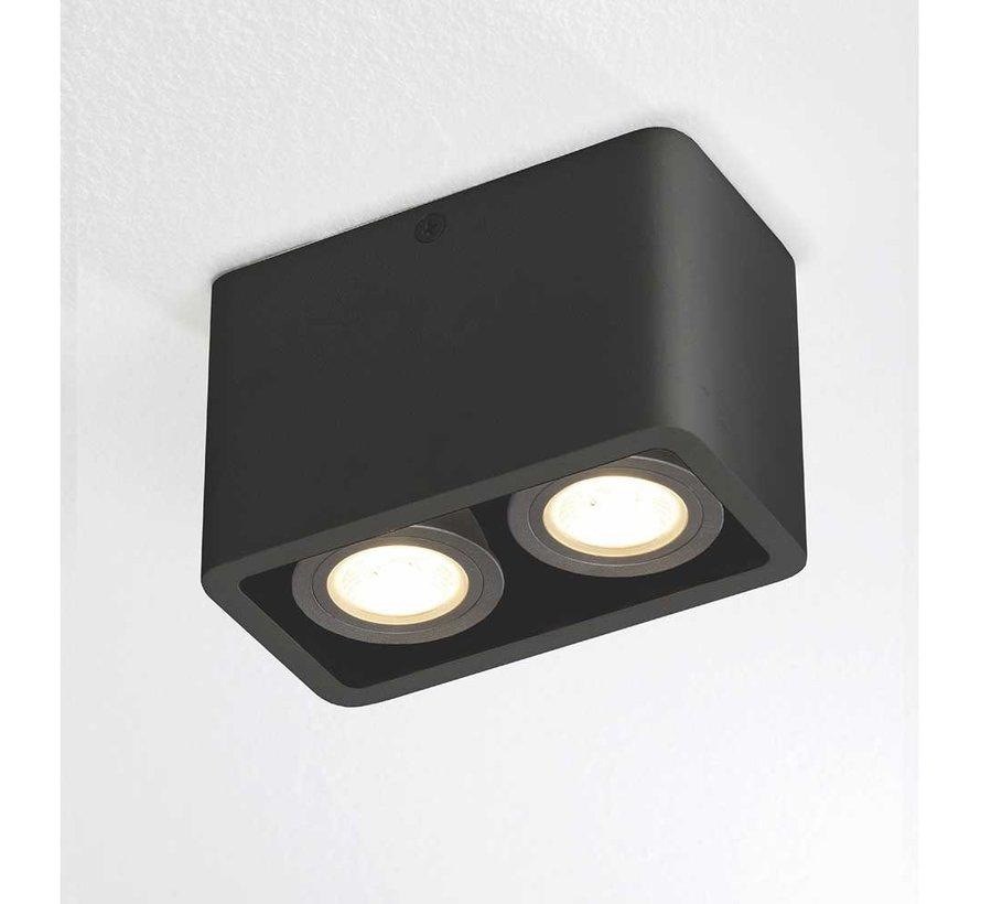 Plafondlamp Bronx 2L - Zwart