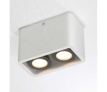 Artdelight Plafondlamp Bronx 2L - Wit