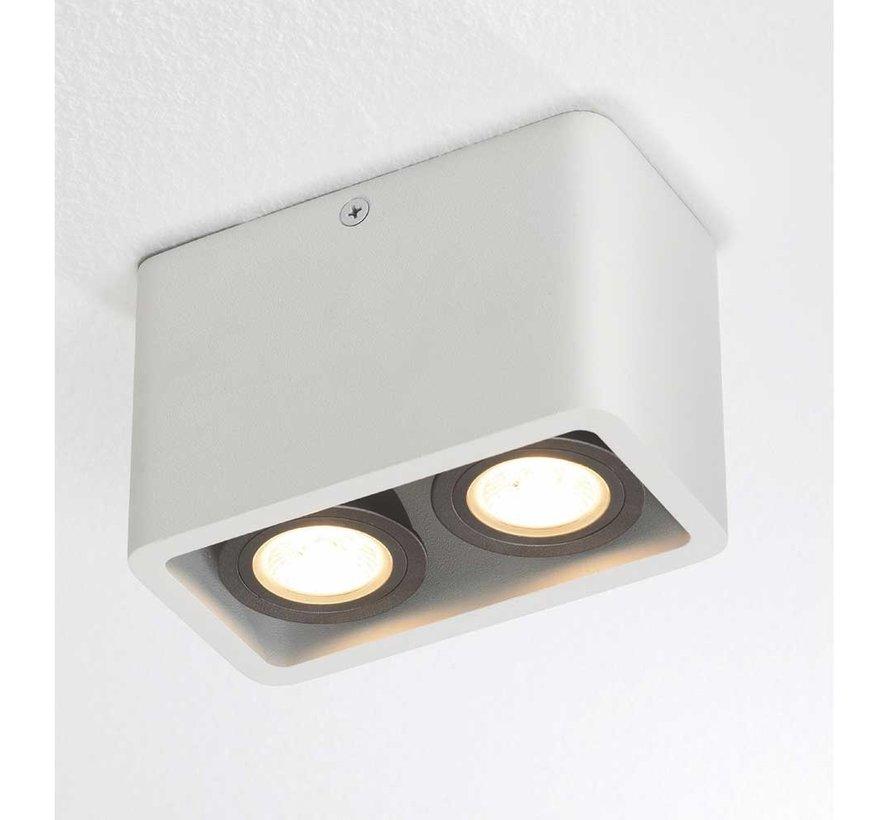 Plafondlamp Bronx 2L - Wit