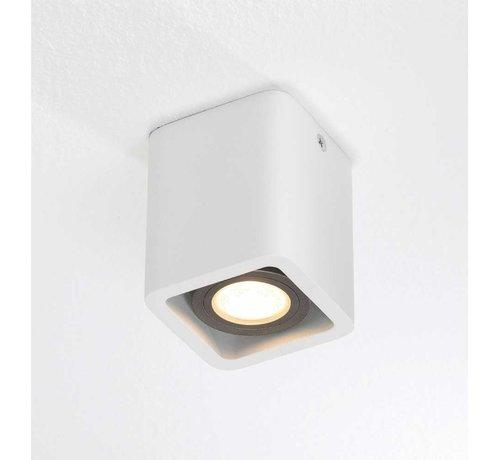 Artdelight Plafondlamp Bronx 1L - Wit