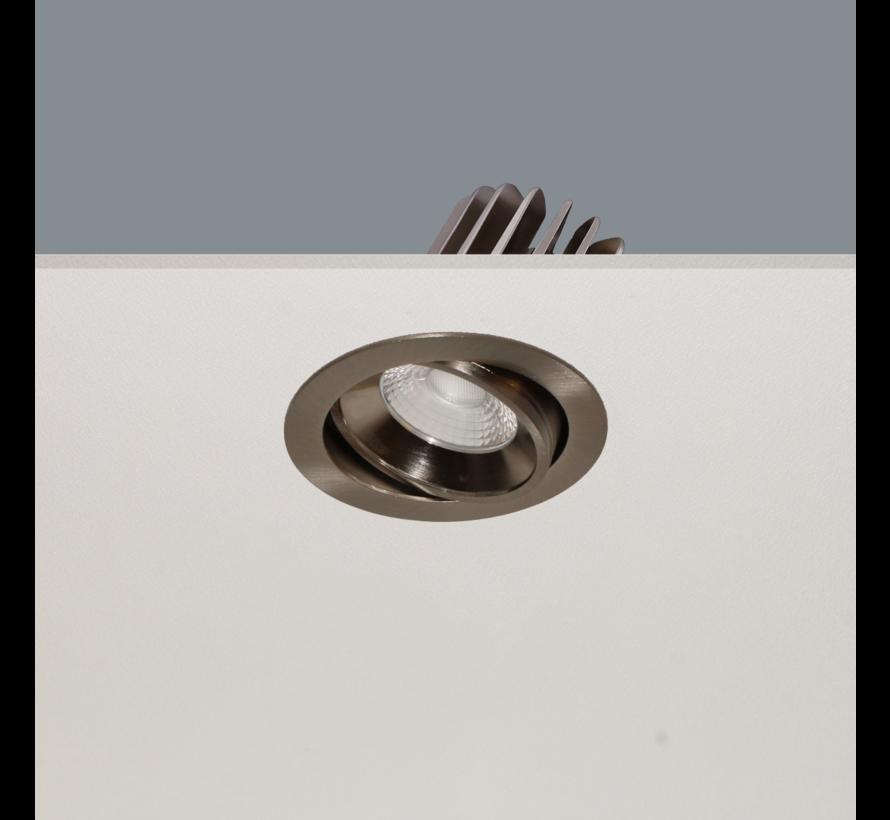 Inbouwspot Venice DL 1210 - Mat Staal