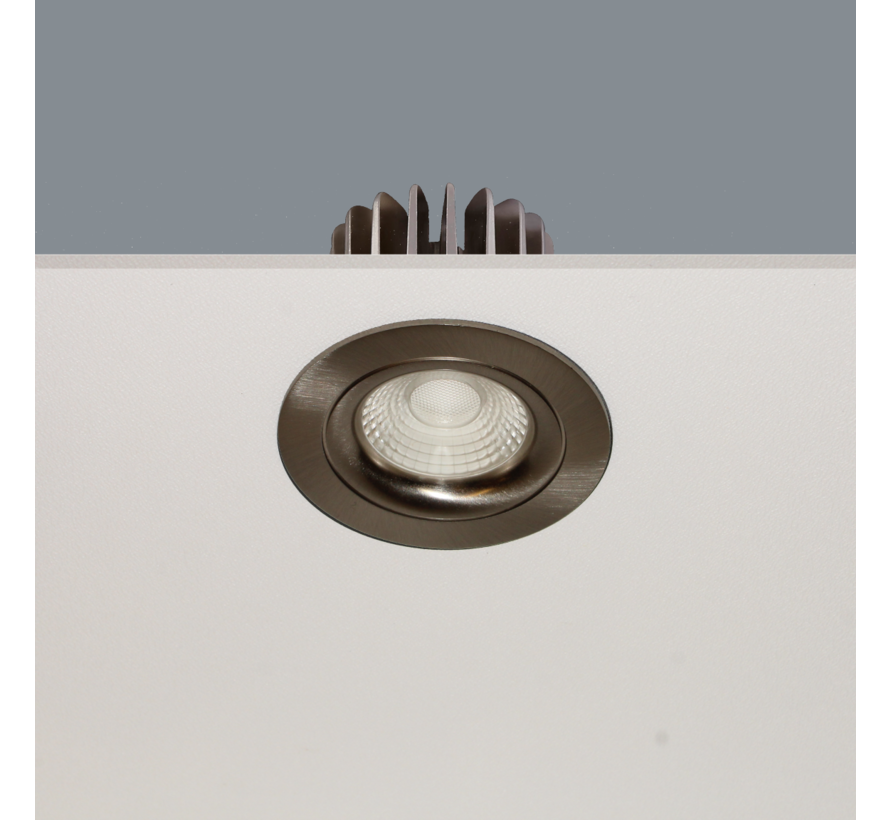 Inbouwspot Venice DL 2108 - Mat Staal