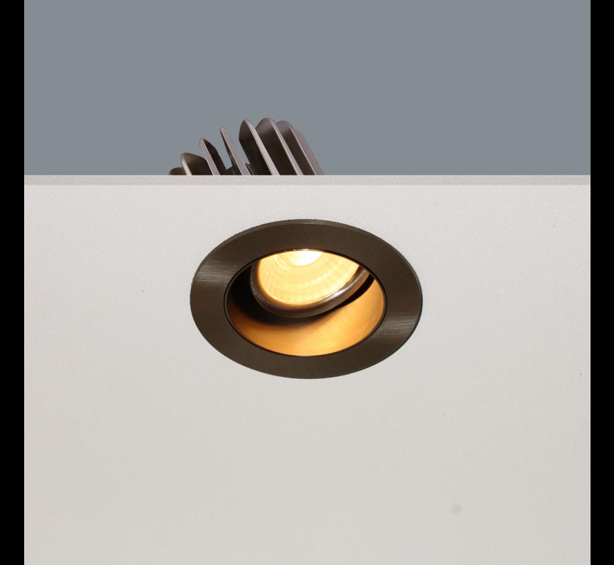 Inbouwspot Venice DL 2408 - Mat Staal