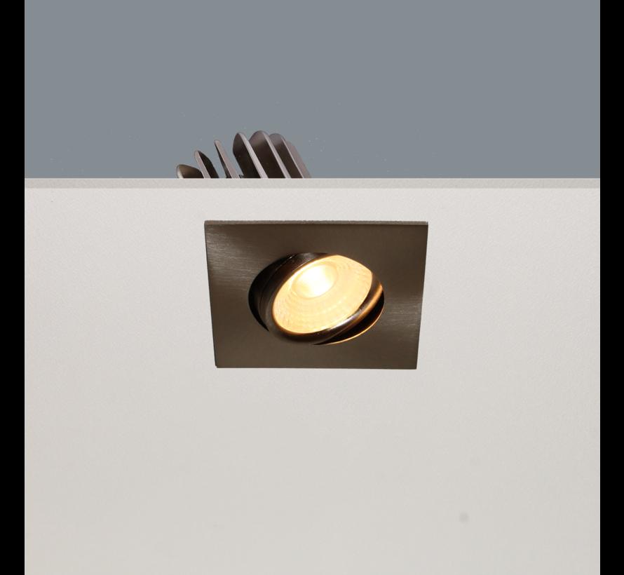 Inbouwspot Venice DL 2608 - Mat Staal