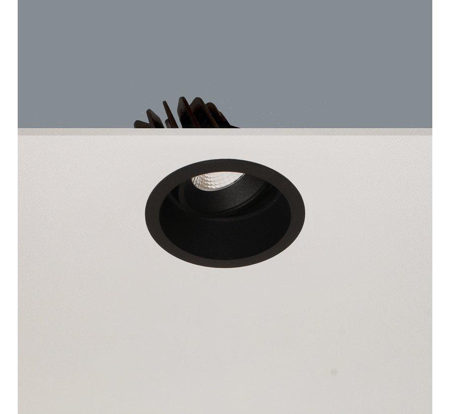 Inbouwspot Ribs - Zwart