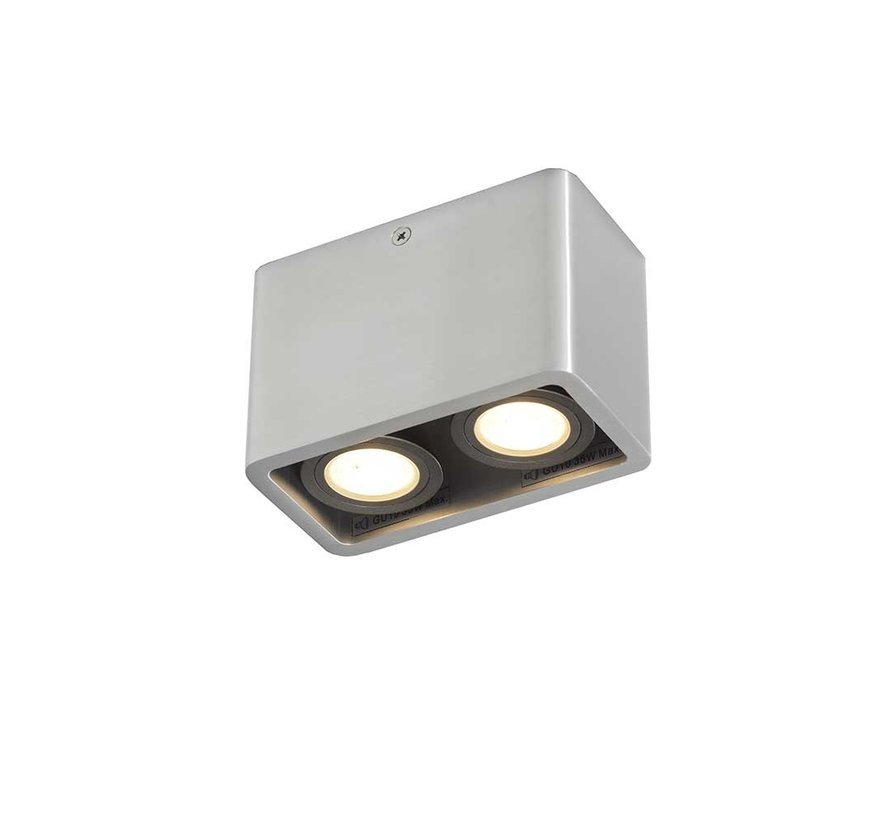 Plafondlamp Bronx 2L - Aluminium