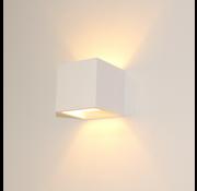 Artdelight Wandlamp Plaster Vierkant - Wit