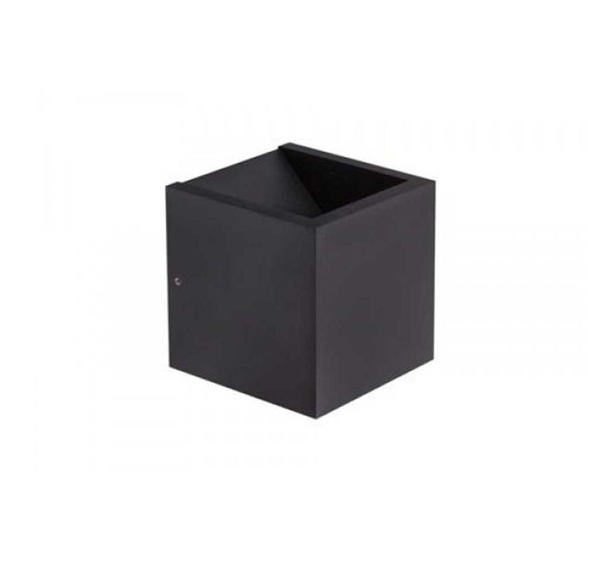 Wandlamp Cube - Zwart