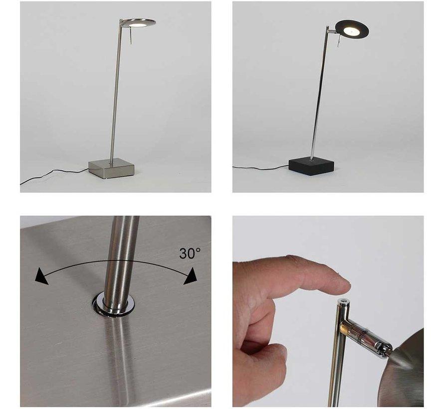 Tafellamp Balano - Zwart/Chroom