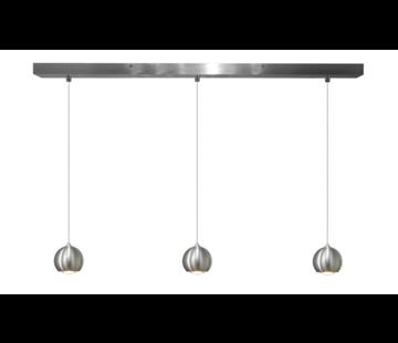 Artdelight Hanglamp Denver 3L - Aluminium