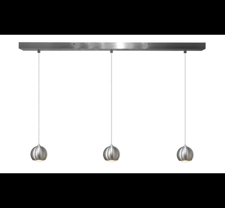 Hanglamp Denver 3L - Aluminium