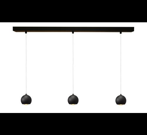 Artdelight Hanglamp Denver 3L - Zwart