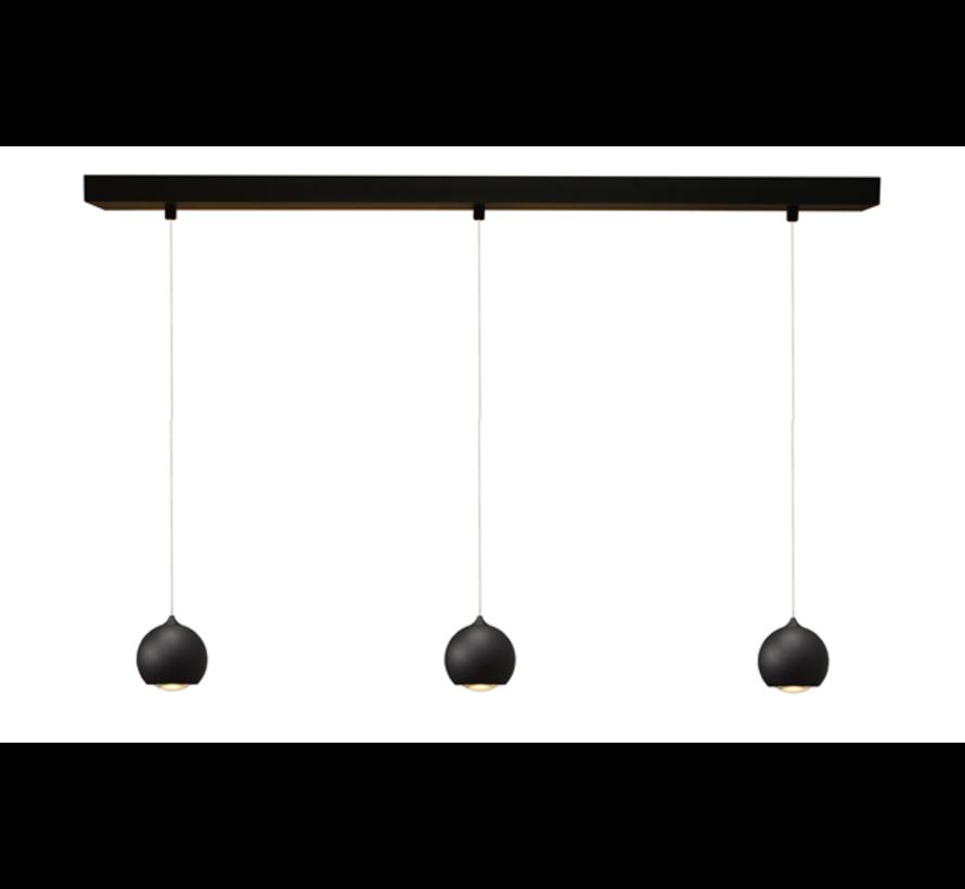 Hanglamp Denver 3L - Zwart
