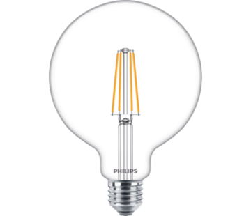 Philips E27 Led Filament Globe 120mm 8W 2700K 806lm - Dimbaar