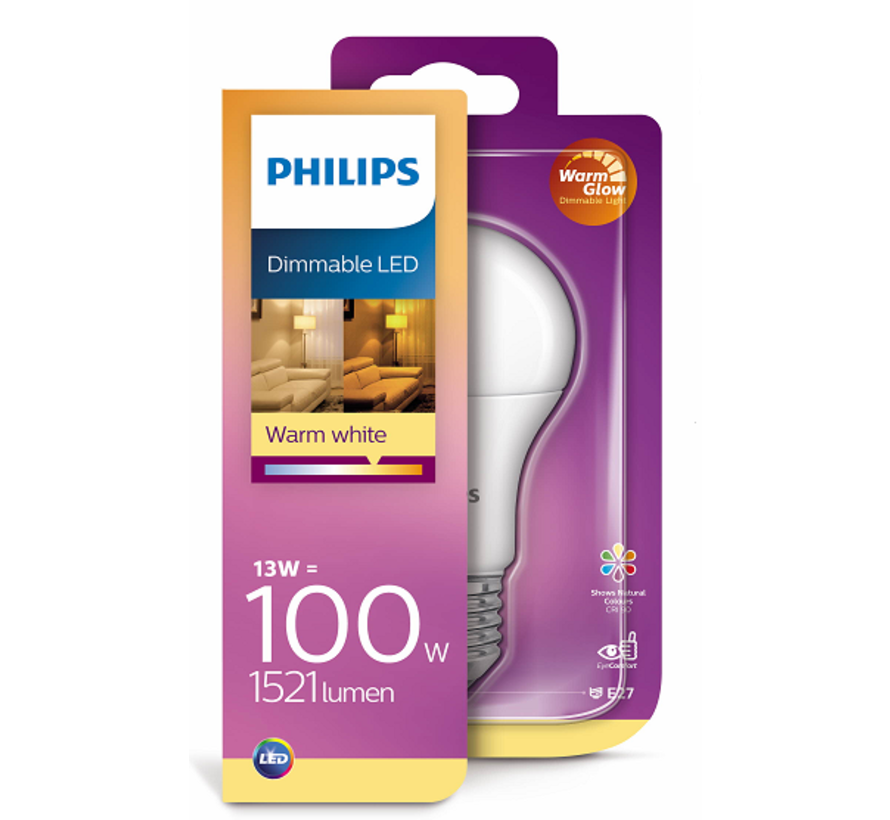 Philips - E27 Led 13W 2200-2700K 1521lm - Dim to Warm