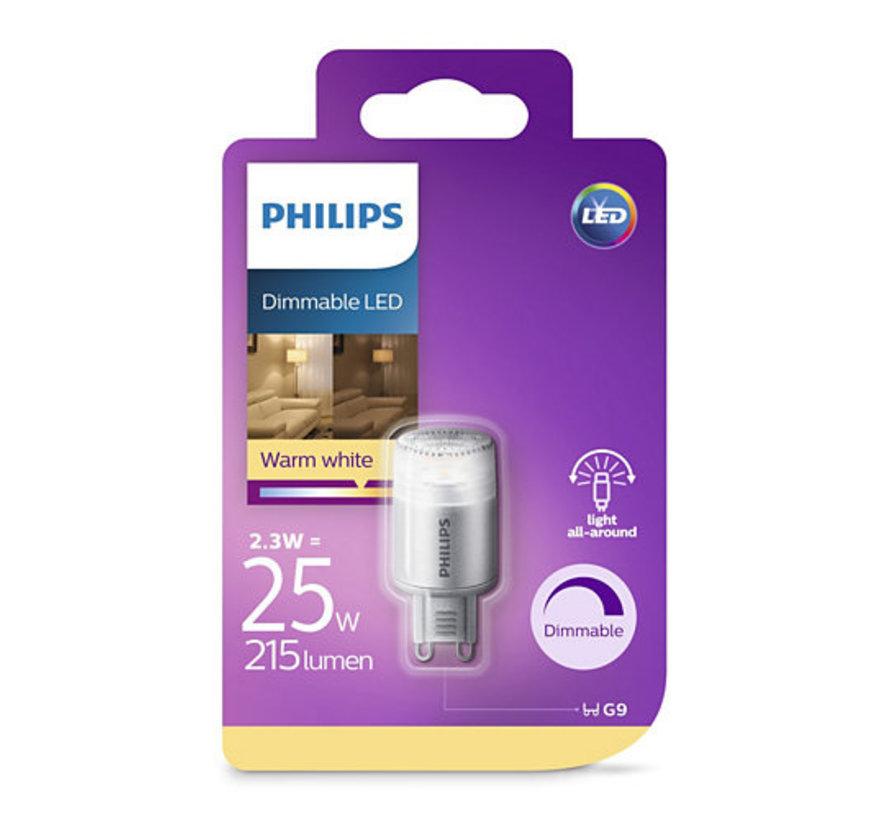 Philips - G9 Led 2,3W 2700K 215lm - Dimbaar