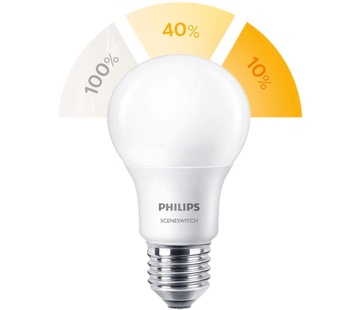 Philips E27 Led 8W 2700-2500-2200K 806lm - SceneSwitch