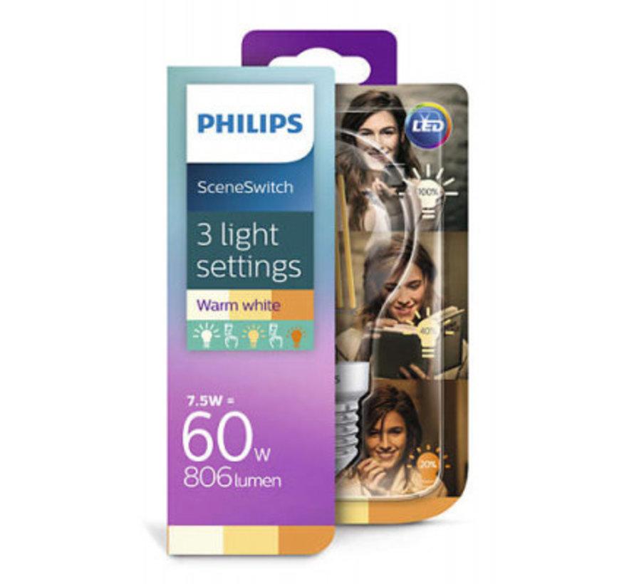 Philips - E27 Led Filament 7,5W 2700-2500-2200K 806lm - SceneSwitch
