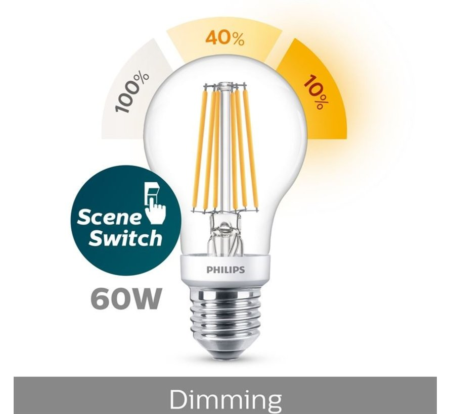 E27 Led Filament 7,5W 2700-2500-2200K 806lm - SceneSwitch