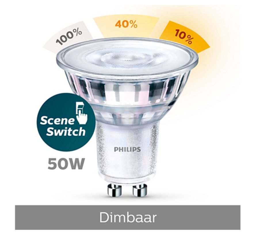 Philips - GU10 Led 5W 2700-2500-2200K 345lm - SceneSwitch