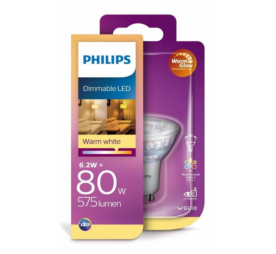 Philips - 8 stuks GU10 Led 6,2W 2200-2700K 575lm - Dim to Warm