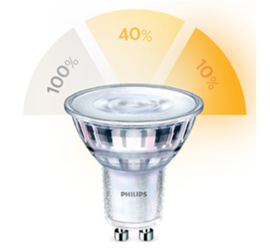 Philips - 8 stuks GU10 Led 5W 2700-2500-2200K 345lm - SceneSwitch