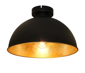 Artdelight Plafondlamp Curve - Zwart/Goud
