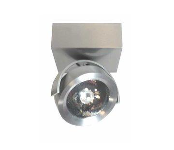 Artdelight Plafondlamp Dutchess LED 1L SQ- Aluminium