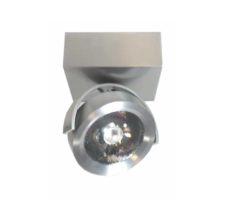 Plafondlamp Dutchess LED 1L SQ - Aluminium