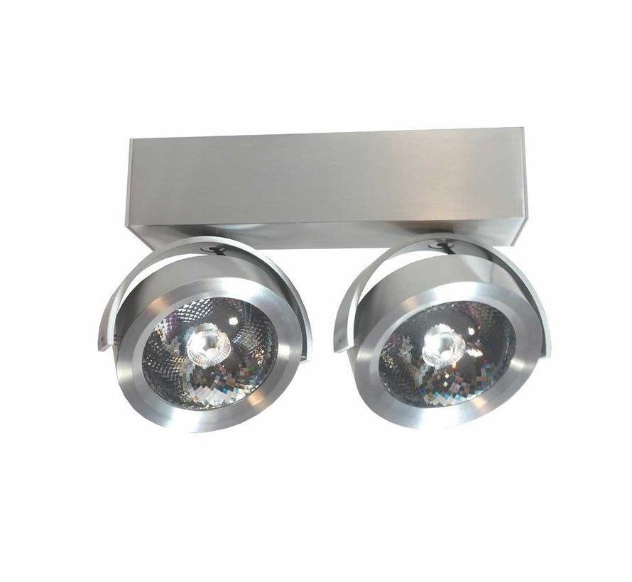Plafondlamp Dutchess LED 2L - Aluminium